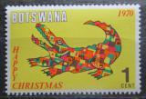 Poštovní známka Botswana 1970 Vánoce, krokodýl Mi# 67