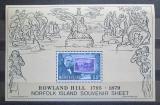 Poštovní známka Norfolk 1979 Rowland Hill Mi# Block 2
