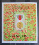 Poštovní známka Libérie 1995 Medaile za statečnost ve válce Mi# Block 139