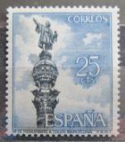 Poštovní známka Španělsko 1965 Kolumbův památník, Barcelona Mi# 1535
