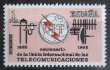 Poštovní známka Španělsko 1965 ITU, 100. výročí Mi# 1551