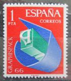 Poštovní známka Španělsko 1966 Mezinárodní výstava grafiky Mi# 1597