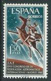 Poštovní známka Španělsko 1966 Kongres astronautiky Mi# 1644