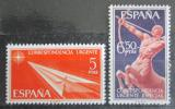Poštovní známky Španělsko 1966 Centaur a papírová šipka Mi# 1660-61