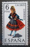 Poštovní známka Španělsko 1967 Lidový kroj Cáceres Mi# 1719