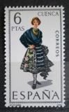 Poštovní známka Španělsko 1968 Lidový kroj Cuenca Mi# 1754