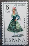 Poštovní známka Španělsko 1968 Lidový kroj Granada Mi# 1775