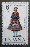 Poštovní známka Španělsko 1968 Lidový kroj Guadalajara Mi# 1776