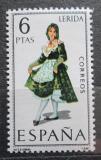 Poštovní známka Španělsko 1969 Lidový kroj Lerida Mi# 1806