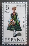 Poštovní známka Španělsko 1969 Lidový kroj Oviedo Mi# 1843