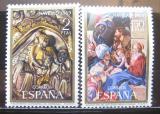 Poštovní známky Španělsko 1969 Vánoce, umění Mi# 1837-38