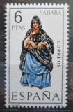 Poštovní známka Španělsko 1970 Lidový kroj Sáhara Mi# 1848