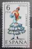 Poštovní známka Španělsko 1970 Lidový kroj Sevilla Mi# 1878