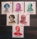 Poštovní známky Španělsko 1970 Spisovatelé Mi# 1882-87