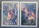 Poštovní známky Španělsko 1970 Vánoce, umění Mi# 1895-96
