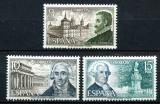 Poštovní známky Španělsko 1973 Stavitelé Mi# 2012-14