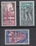 Poštovní známky Španělsko 1973 Klášter Santo Domingo, Burgos Mi# 2054-56