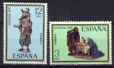Poštovní známky Španělsko 1976 Vánoce, sochy Mi# 2261-62