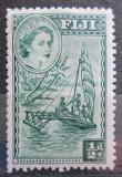 Poštovní známka Fidži 1954 Tradiční loď Mi# 124