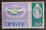 Poštovní známka Fidži 1964 Rok mezinárodní spolupráce Mi# 186
