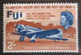 Poštovní známka Fidži 1968 Letadlo Mi# 211
