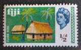 Poštovní známka Fidži 1968 Kokosové palmy a domy Mi# 212