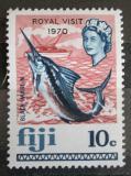 Poštovní známka Fidži 1970 Makaira indica přetisk Mi# 259