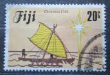 Poštovní známka Fidži 1984 Vánoce, plachetnice Mi# 513