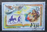 Poštovní známka Fidži 1992 Vánoce Mi# 669