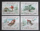 Poštovní známky Libanon 1966 Mezinárodní zimní hry Mi# 954-57