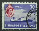 Poštovní známka Singapur 1955 Tanker Mi# 38