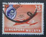 Poštovní známka Singapur 1955 Letadlo Mi# 37