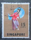 Poštovní známka Singapur 1968 Lidový tanec, Sumatra Mi# 89