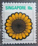 Poštovní známka Singapur 1973 Slunečnice Mi# 195
