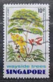 Poštovní známka Singapur 1976 Peltophorum pterocarpum Mi# 246