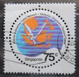 Poštovní známka Singapur 1983 Mapa Mi# 435