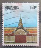 Poštovní známka Singapur 1984 Starý dům Mi# 446