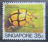 Poštovní známka Singapur 1985 Heteroneda reticulata Mi# 468
