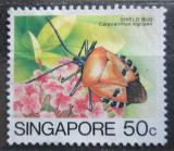 Poštovní známka Singapur 1985 Catacanthus nigripes Mi# 469