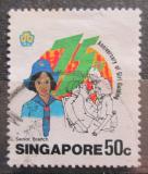 Poštovní známka Singapur 1985 Skautky, 75. výročí Mi# 485