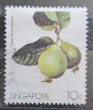 Poštovní známka Singapur 1986 Kvajáva hrušková Mi# 490