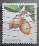 Poštovní známka Singapur 1986 Zapota obecná Mi# 493