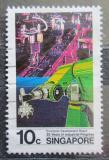 Poštovní známka Singapur 1986 Průmyslový robot Mi# 505
