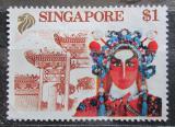Poštovní známka Singapur 1990 Zpěvák z Čínské opery Mi# 611