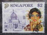Poštovní známka Singapur 1990 Malajská tanečnice Mi# 612