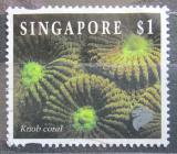 Poštovní známka Singapur 1994 Favia speciosa Mi# 720