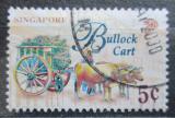 Poštovní známka Singapur 1997 Vůz tažený voli Mi# 830