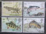 Poštovní známky Velká Británie 1983 Sladkovodní ryby Mi# 938-41