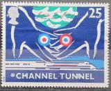 Poštovní známka Velká Británie 1994 Otevření železničního tunelu Mi# 1514