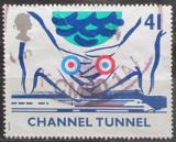 Poštovní známka Velká Británie 1994 Otevření železničního tunelu Mi# 1515